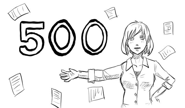 500記事到達、1/7の低調な進捗