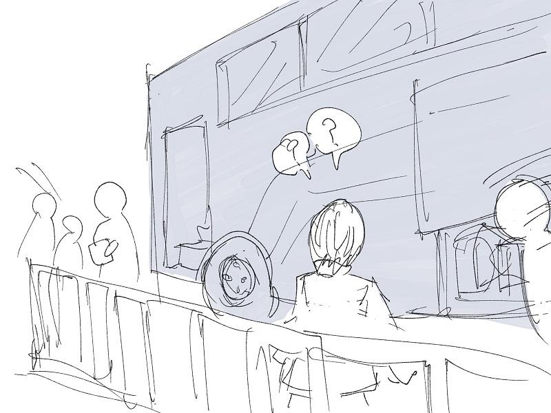 高速バスに乗るとき、非常に混乱した話